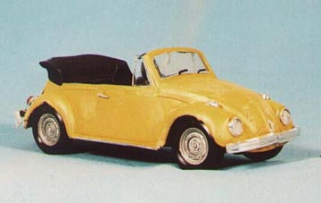 1/25th scale Volkswagen Cabriolet, built and showing body damage, but as yet unweathered.  Revell kit.